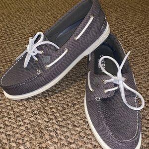 Gray men sperry's size 9